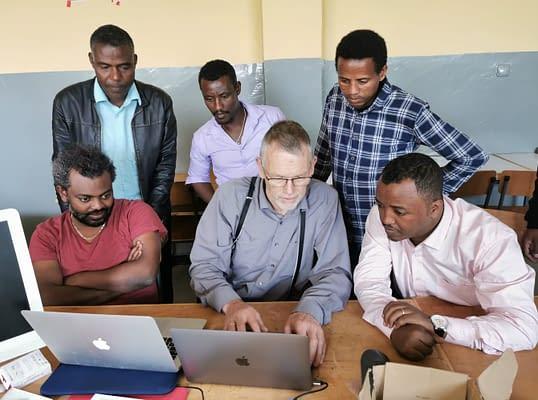 Teachers training on the InfoSpot